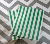 Image of Green Candy Stripe Bags
