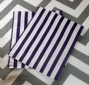 Image of Navy Candy Striped Bags