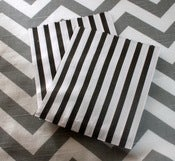 Image of Black Candy Striped Bags