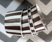 Image of Brown Stripe Candy Cups