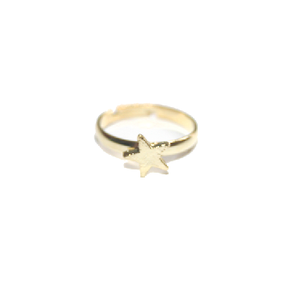 Image of Cute Gold Coloured Star Ring