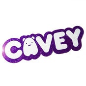 Image of Purple Glitter Cavey Sticker