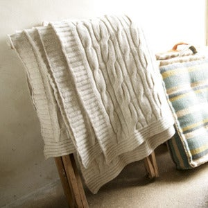 Image of Luxury Lambswool Throw