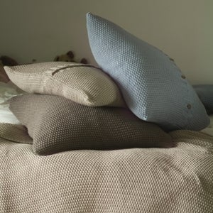 Image of Moss Stitch Cushions