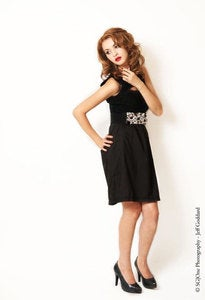 Image of Black Lace Sweat Heart Dress