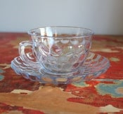 Image of Glass Tea Cup & Saucer