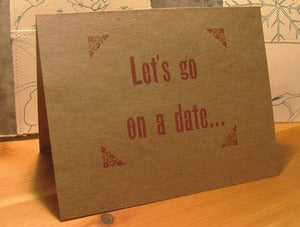 Image of 'Let's go on a date...' card
