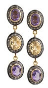 Image of Kara Ackerman <i> Alice Rose  <i/> Amethyst and Yellow Beryl Diamond Earring