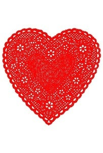 Image of Heart Doily Art Print-Much Love