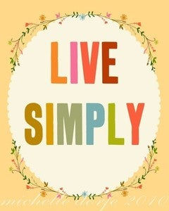 Image of Live Simply Print