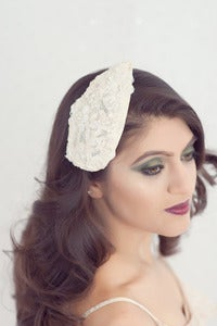 Image of Tear drop alencon lace bridal hat