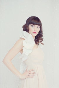 Image of Amelia - White Shoulder Bridal Wrap