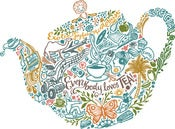 Image of Inkymole 'EVERYBODY LOVES TEA' print