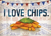 Image of Inkymole 'I LOVE CHIPS' print