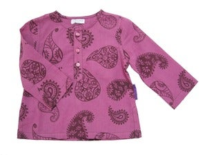 Image of Berry Paisley Kurta Shirt