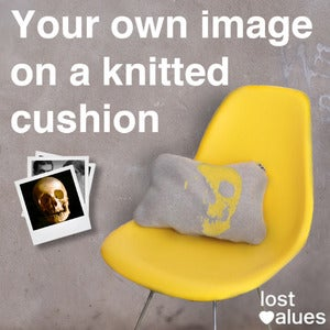 Image of YOUR OWN IMAGE ON A KNITTED CUSHION
