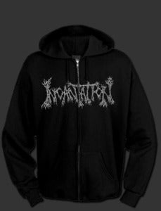"Image of Incantation "" Blasphemous Cremation "" Zipper hoodie"