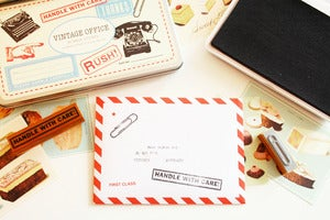 Image of Office supply rubber stamp set