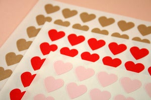 Image of 108 Heart stickers - Envelope Seals
