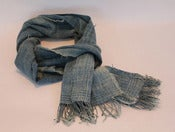 Image of SFV MERCANTILE VINTAGE AFRICAN INDIGO DYED FABRIC SCARF #1