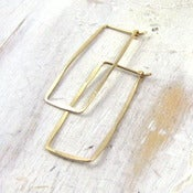 Image of gold rectangle hoop m/l