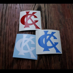 Image of CK Letterman Decal