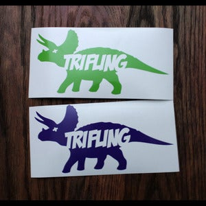 Image of Trifling Triceratops Decal