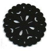Image of Snowflake coasters box of 4 black