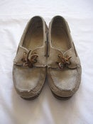 Image of Tan Suede Boat Shoes by Bass, size 10 1/2 M