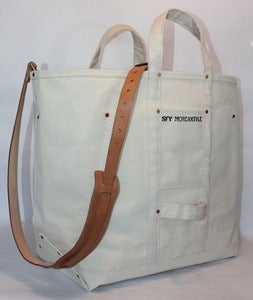 Image of SFV MERCANTILE HD Riveted Canvas Bag. Available w/ Optional Adjustable Leather Shoulder Strap