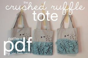 Image of Crushed Ruffle Tote PDF Pattern