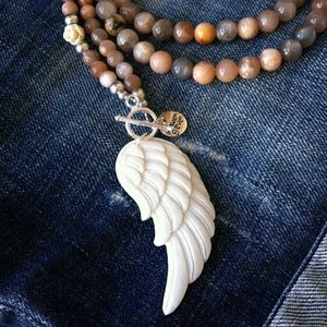 Image of Boho Angel Wing Necklace