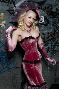 Image of Siouxsie Monroe Corset Silk Velvet Custom Sized