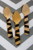Image of &quot;Zebra&quot; Wooden Spoons