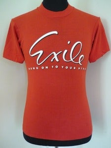 Image of 80s Exile band concert T shirt