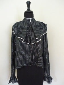 Image of Indian cotton striped blouse