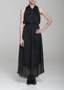Image of Romy Black Chiffon Maxi Dress