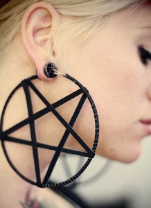 Image of Large Pentagram Earrings