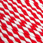 Image of Red Striped Paper Straws