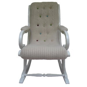 Image of Melanie Porter: Knitted covered chair Rosy