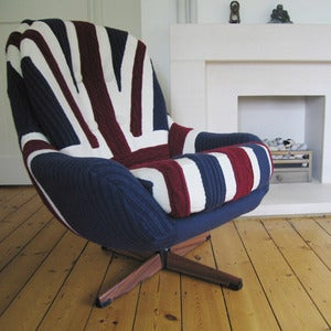 Image of Melanie Porter: Knitted swivel armchair - Edward