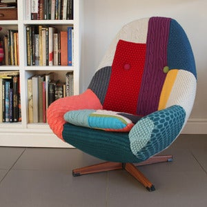 Image of Melanie Porter: Knitted covered swivel chair: Harry