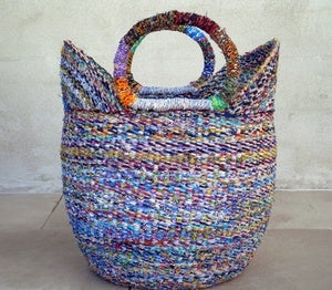 Image of Recycled Bolga Basket Large
