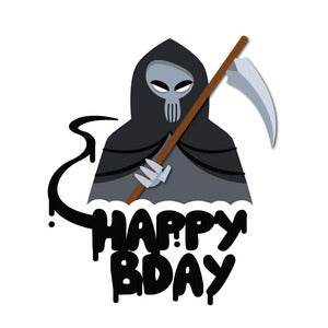 Image of Birthday: Death Card
