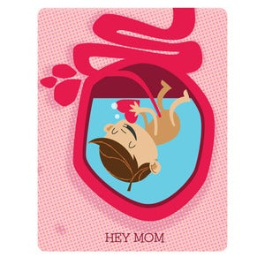 Image of Mom: Greetings from the Womb Card