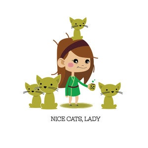 Image of Sympathy: Cat Lady Card