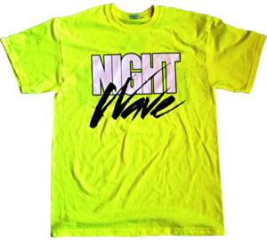 Image of HYPER CRUSH X LA GEAR NIGHT WAVE T-SHIRT (NEON)