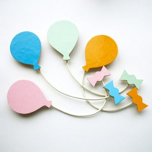 Image of Balloon Brooch - Spring Set - 4 Colours!