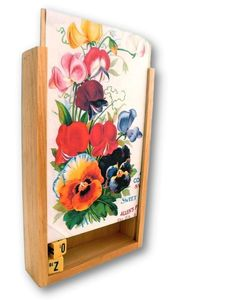Image of KEEPSAKE BOX: vintage seed catalog, sweet pea