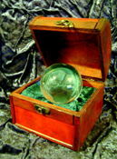 Image of Beautiful 80MM Wood Crystal Ball Storage Box